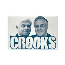 Chris and Barney Crooks Rectangle Magnet