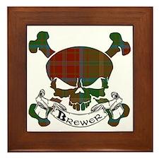 Brewer Tartan Skull Framed Tile