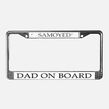 Samoyed Dad License Plate Frame