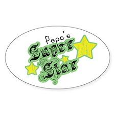 Pepa's Super Star Oval Decal