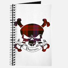 Brown Tartan Skull Journal