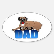 Boxer Dog Dad Oval Decal