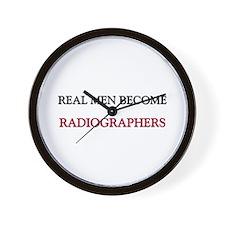 Real Men Become Radiographers Wall Clock