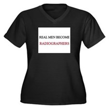 Real Men Become Radiographers Women's Plus Size V-