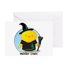 Wicked Chick Greeting Card