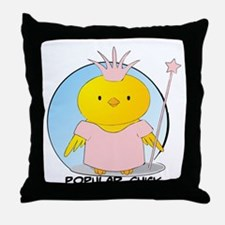 Popular Chick Throw Pillow