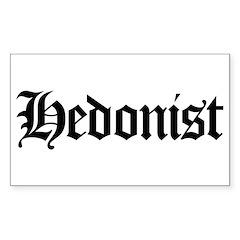 Hedonist Rectangle Sticker 10 pk)