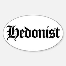 Hedonist Oval Decal