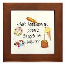 What Happens at Pepa's..... Framed Tile