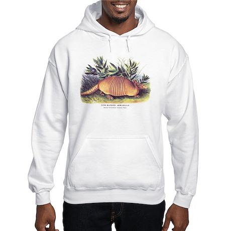 Audubon Armadillo Animal (Front) Hooded Sweatshirt