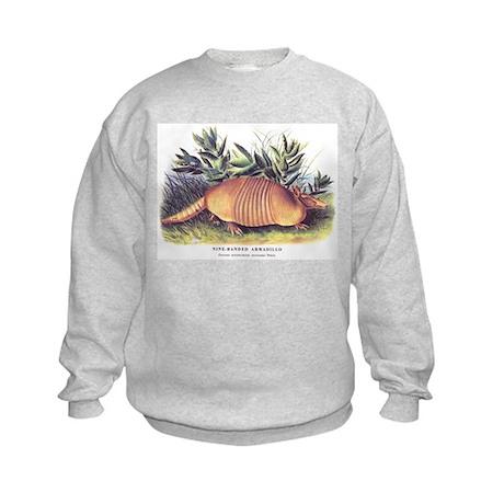 Audubon Armadillo Animal Kids Sweatshirt