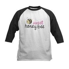Sweet Honey Bee Kids Baseball Jersey
