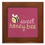 Sweet Honey Bee Framed Tile