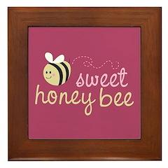 Sweet Honey Bee Framed Tile