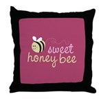 Sweet Honey Bee Throw Pillow