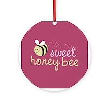 Sweet Honey Bee Ornament (Round)