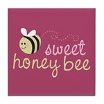 Sweet Honey Bee Tile Coaster
