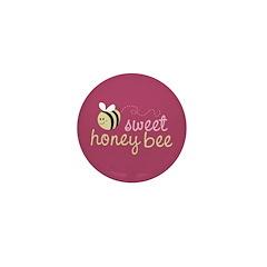 Sweet Honey Bee Mini Button (100 pack)