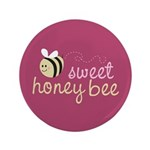 "Sweet Honey Bee 3.5"" Button (100 pack)"