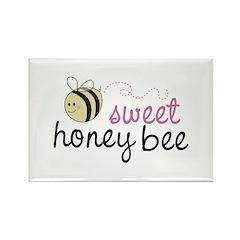 Sweet Honey Bee Rectangle Magnet
