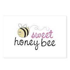 Sweet Honey Bee Postcards (Package of 8)