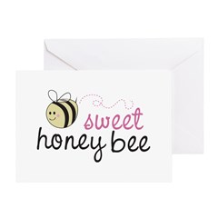 Sweet Honey Bee Greeting Card