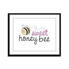 Sweet Honey Bee Framed Panel Print