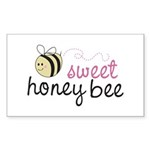 Sweet Honey Bee Rectangle Sticker 10 pk)