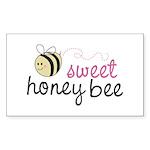Sweet Honey Bee Rectangle Sticker 50 pk)