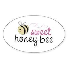 Sweet Honey Bee Oval Decal
