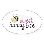 Sweet Honey Bee Oval Sticker (10 pk)