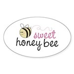 Sweet Honey Bee Oval Sticker (50 pk)