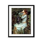 Ophelia / Schipperke #4 Framed Panel Print