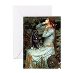 Ophelia / Schipperke #4 Greeting Card