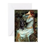 Ophelia / Schipperke #4 Greeting Cards (Pk of 10)