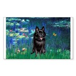 Lilies / Schipperke #4 Sticker (Rectangle 10 pk)