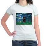 Lilies / Schipperke #4 Jr. Ringer T-Shirt