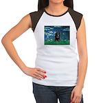 Lilies / Schipperke #4 Women's Cap Sleeve T-Shirt