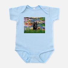 Lilies / Schipperke #4 Infant Bodysuit