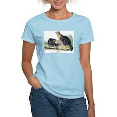 Audubon Beaver Animal (Front) T-Shirt