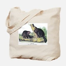 Audubon Beaver Animal Tote Bag