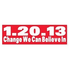 Obama's last day 01.20.13 Bumper Bumper Sticker