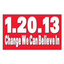 Obama's last day 01.20.13 Rectangle Sticker 50 pk