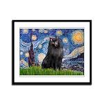 Starry / Schipperke #2 Framed Panel Print