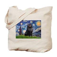 Starry / Schipperke #2 Tote Bag