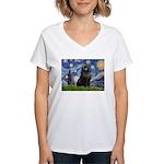 Starry / Schipperke #2 Women's V-Neck T-Shirt
