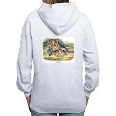 Audubon Coyote Animal (Back) Zip Hoodie