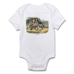 Audubon Coyote Animal Infant Bodysuit