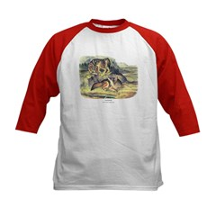 Audubon Coyote Animal (Front) Kids Baseball Jersey