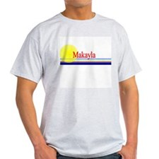 Makayla Ash Grey T-Shirt